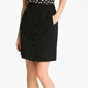 Kate Spade Faylyn Wool Button Front Skirt